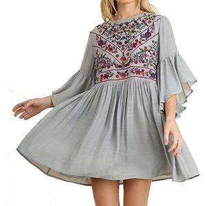 UMGEE Embroidered Boho Dress